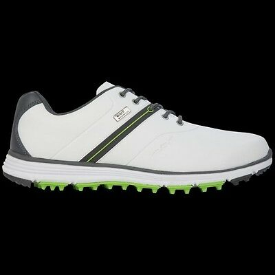 Stuburt 2017 Mens Vapour eVent Spikeless Golf Shoes in White/Titanium Uk Size 9