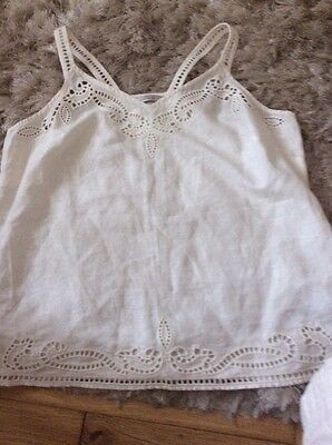 M&S Cotton Top Ivory Size 16