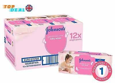 Hypoallergenic Baby Wipes New Born Diaper Wipes 12 Pack - 672 Wipes I Johnson's