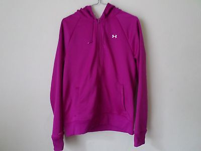 NEW Ladies Under Armour Storm fleece full zip hoodie in Cerise Hot Pink - Size L