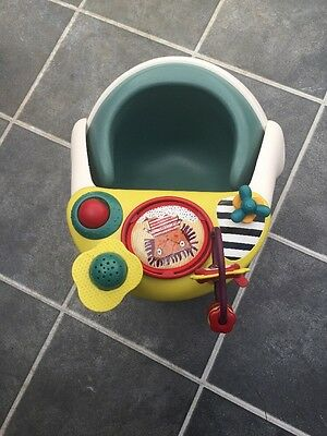 Mamas And Papas Snug Seat  Light Green Colour With Activity Tray