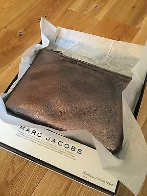 MARC JACOBS Metallic Leather Pouch (clutch Bag)