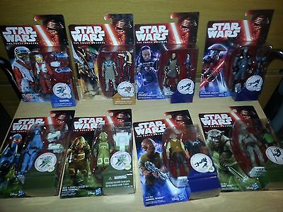 Star wars the force awakens action figures x8 brand new sealed in box