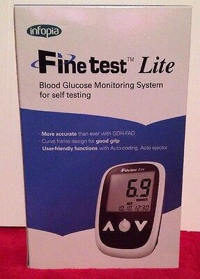 INFOPIA Finetest Lite Blood Glucose Monitoring System Self Testing Diabetic