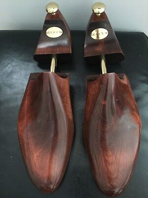 GUCCI Wooden Shoe Trees Stretchers Large Size (11/12) , 632 Made In England.