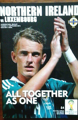 Northern Ireland V Luxembourg 11/9/2012 World Cup