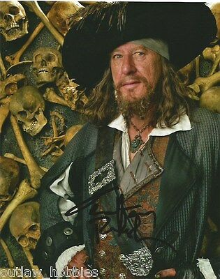 Geoffrey Rush Pirates of the Caribbean Autographed Signed 8x10 Photo COA A