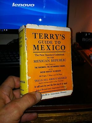 Terry's Guide To Mexico 1938 With Fold Out Maps