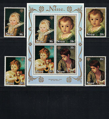 Br CW: Niue 1979: #237-240a + B8-B11 Year Child-Paintings, Artists NH- Lot#6/25