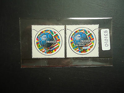 France 1998 World Cup 4th Issue (Ord) (2v) (SG 3472 + 3509) Mounted Mint