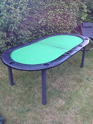 Large Leather Padded Poker Table Top