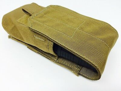 NEW X2 USMC Coyote Brown Smoke Grenade Ammo Mag Magazine Pouch Military