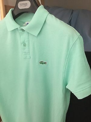 Teen Boys Lacoste Fitted polo shirt In Light Green Size S