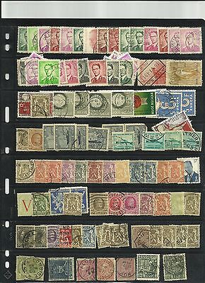 Collection of used mint hinged Belgium  (3)