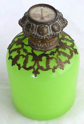 Antique 19th Century French Green Opaline Scent Bottle – Grand Tour - Paris