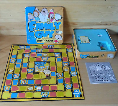 FAMILY GUY TRIVIA GAME in a TIN - UNUSED & COMPLETE - 2005 - AGES 13 +