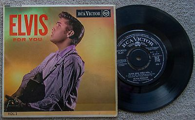 "ELVIS PRESLEY  original 7"" vinyl EP ""ELVIS FOR YOU VOL. 1"" ( RCX-7142 )"