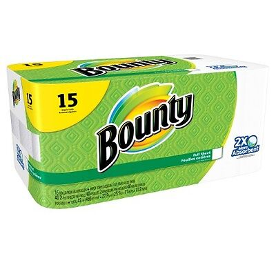 Bounty Paper Towels, Full Sheet, White, Regular Rolls, Choose Your Own Count