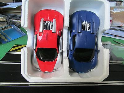 Scalextric New x2 Bugatti Veyrons DPR unboxed