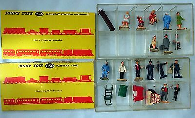 Two Boxes Dinky Toys 050 Railway Staff 054 Railway Station Personnel