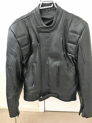 Leather jacket (premier), Motorbike style, with some armour