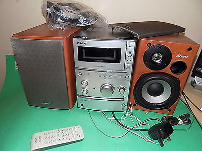SONY Compact Disc Deck Hi-Fi Component System HCD-CPX11 CD Tape Tuner + Speakers