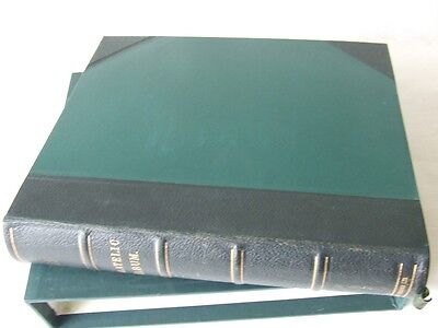 Stanley Gibbons 'philatelic' Leather Bound 2-Peg Stamp Album & Slipcase, Vgc