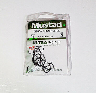 Hameçons/Fish hook mustad Demon Circle - Fine n°2 - 10pcs