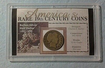 Barber Type Silver 1908 Half Dollar Cased /Emergency Preppers / Shipping $ 1.00
