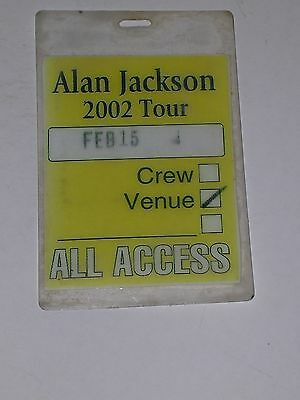 Rare ALAN JACKSON Laminate VENUE ALL ACCESS PASS