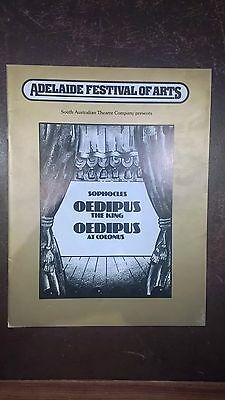 Sophocles' Oedipus The King at the Adelaide Festival 1978 programme