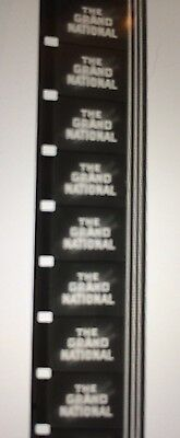 1951  B&W SOUND 16mm FILM REEL.THE GRAND NATIONAL,1951.HORSE RACE