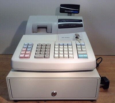 Sharp Xe-A202 Electronic Cash Register Very Easy To Setup And Free Till Rolls