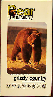Grizzly Country - Bear Us In Mind - Vintage U.s. Government Information Brochure