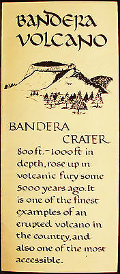 Bandera Volcano - Crater - Ice Caves - Map - Vintage Brochure - New Mexico  Usa