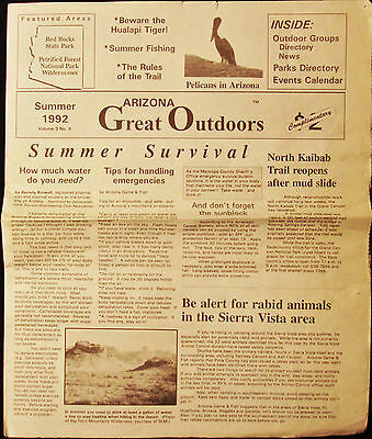 Great Outdoors - Vintage Newspaper 1992 - Arizona - Petrified Forest- Red Rocks