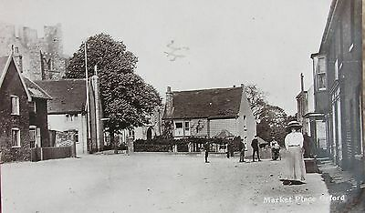 Charming Market Place Orford Woodbridge Suffolk 1917 Rp Pc