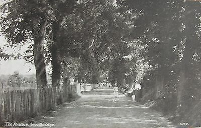 The Avenue & Railway Crossing Gates Woodbridge Suffolk Early Pc