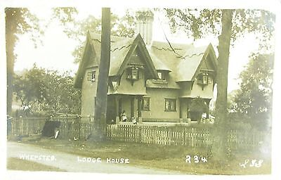 The Lodge House Whepsted Near Bury St Edmunds Suffolk 1918 Rp Pc