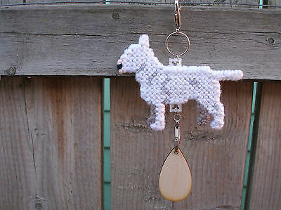 Bull Terrier #1 dog crate tag or hang anywhere pet theme art, standard miniature
