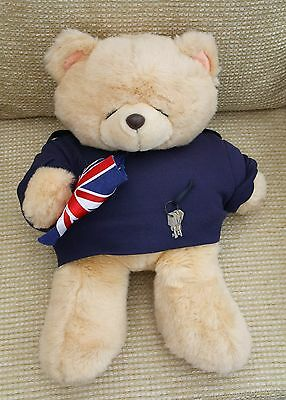 """""""Forever Friends"""" plush Teddy (20ins), dressed as a Security Officer"""