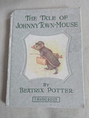 Vintage Old Early The Tale Of Johnny Town-Mouse Beatrix Potter Book