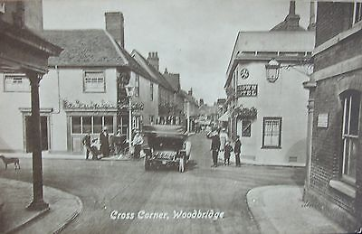 Edwardians By Vintage Car At Cross Corner Woodbridge Suffolk Early Pc