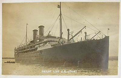 Orient Line Ss Otway Tilbury Essex Early Rp Pc