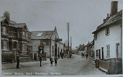 Tranquil Middle Street Wickham Market Suffolk 1921 Rp Pc