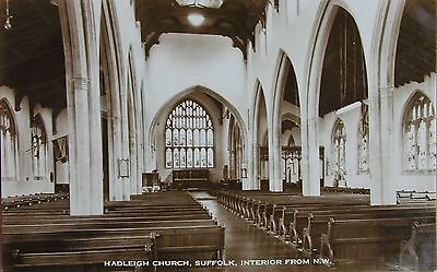 The Interior Of Hadleigh Church Suffolk Early Rp Pc