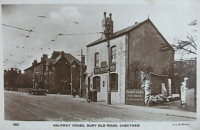 Halfway House Bury Old Road Cheetham Hill Manchester Lancashire 1926 Rp Pc