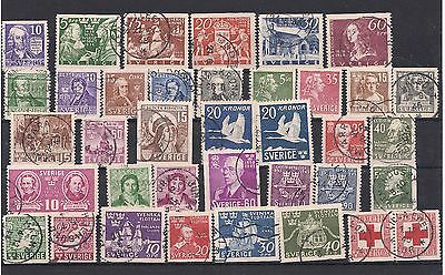 Sweden 1938-48 Range of Issues Fine Used