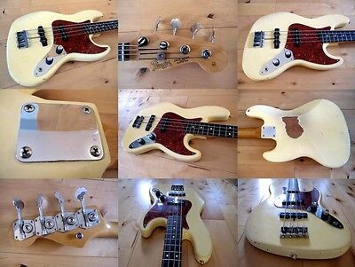 fender jazz bass american vintage reissue 62 late 80s olympic white