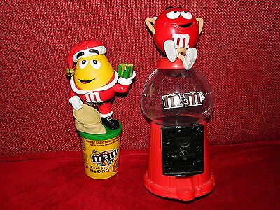 M&M's Spender Dispenser Sammlerstücke Red & Yellow - Kaugummiautomat & Christmas